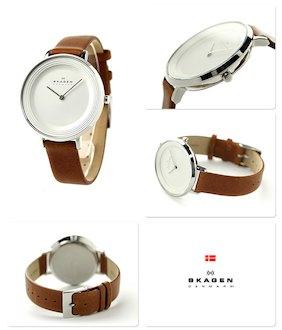 Dбmske hodinky SKAGEN Brown
