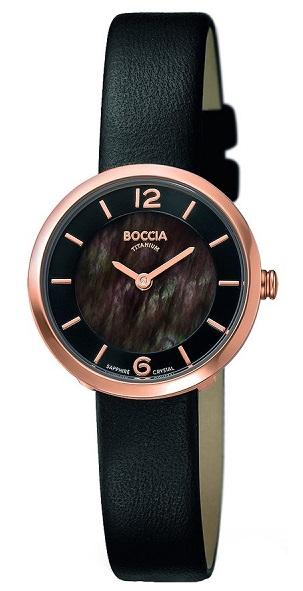 Boccia Titanium d�mske hodinky black