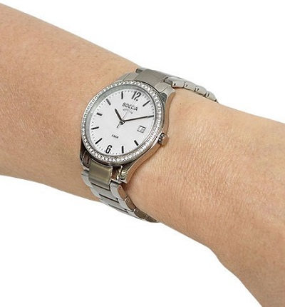 Boccia Titanium dбmske hodinky silver