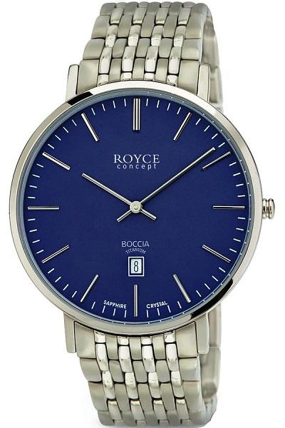 Boccia Titanium p�nske hodinky blue