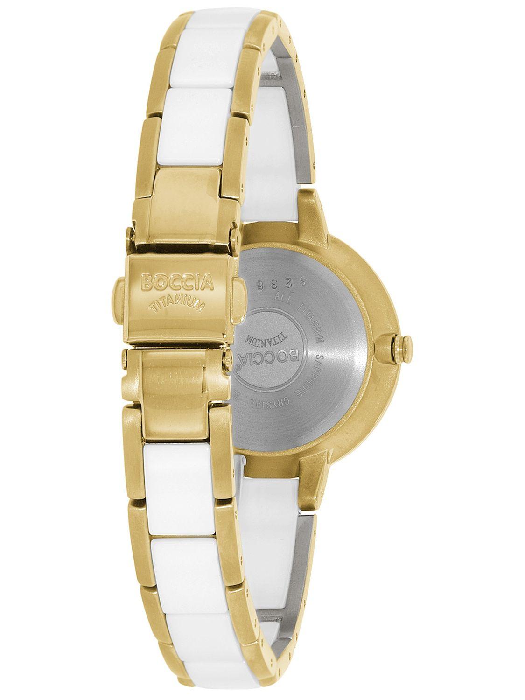 Boccia Titanium dбmske hodinky Ceramica/Gold