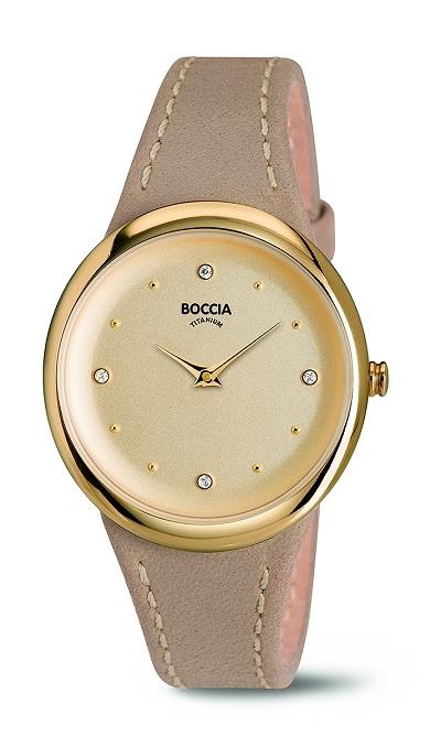 Boccia Titanium d�mske hodinky gold/beige