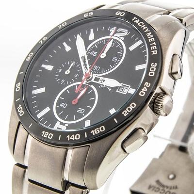Pбnske hodinky BOCCIA TITANIUM black/silver chrono