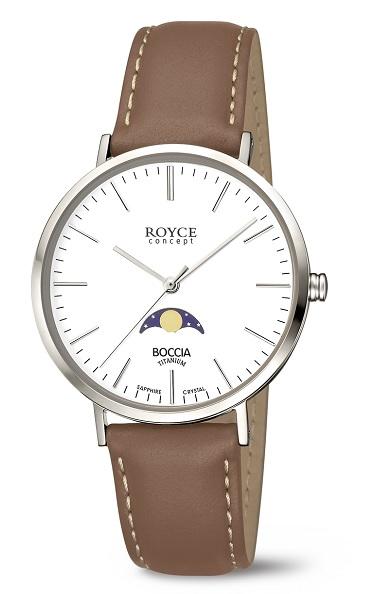 Pбnske hodinky BOCCIA ROYCE Titanium braun