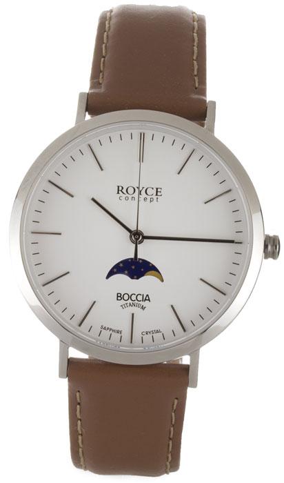 P�nske hodinky BOCCIA ROYCE Titanium braun