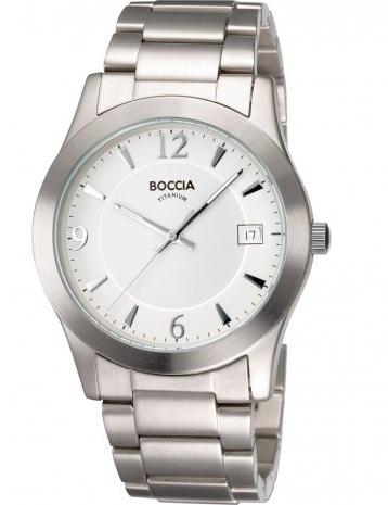 Pбnske hodinky BOCCIA TITANIUM silver