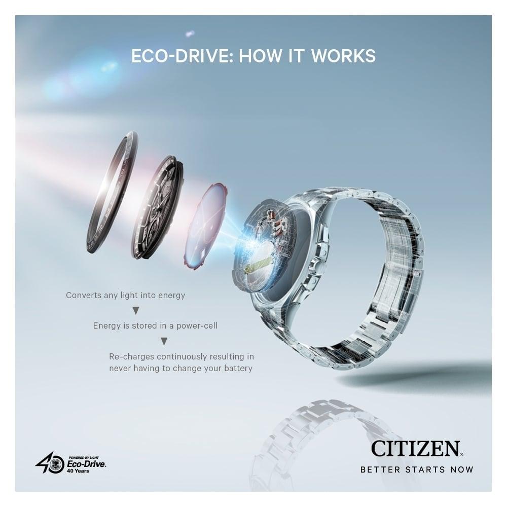 Dбmske hodinky CITIZEN ECO DRIVE Blue TITANIUM
