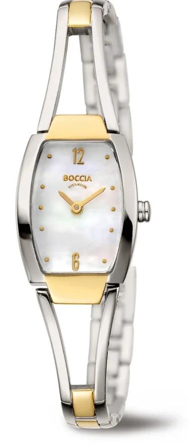 Decentnй dбmske titбnovй hodinky BOCCIA