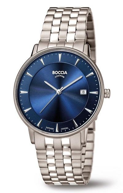 P�nske tit�nov� hodinky BOCCIA SAPHIR