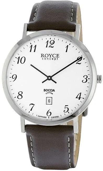 P�nske tit�nov� hodinky BOCCIA ROYCE