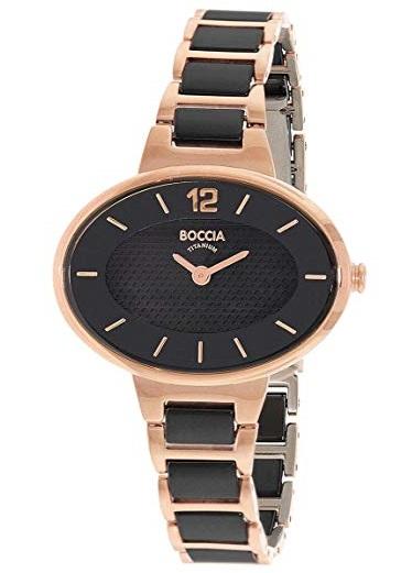 Elegantn� tit�nov� hodinky BOCCIA BLACK