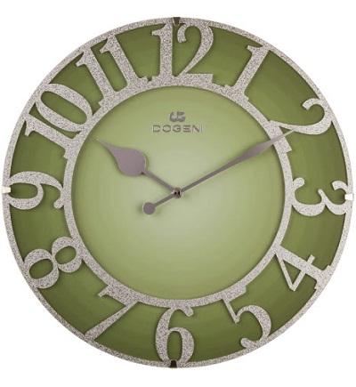Dekoratнvne nбstennй hodiny DOGENI GREEN